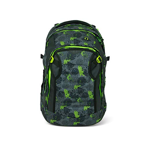 Satch Match, Off Road ergonomischer Schulrucksack, erweiterbar auf 35 Liter, extra Fronttasche, SAT-MAT-001-9X1, Off Road - Schwarz, Einheitsgrosse