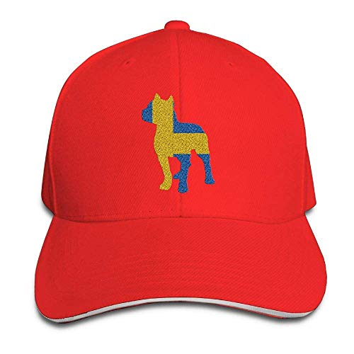 Presock Prämie Unisex Kappe Patriotic Pitbull Swedish Flag Adult Adjustable Snapback Hats Sandwich Cap
