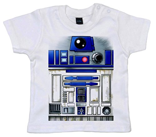 Image Vêtements bébé, Cute R2 Robot Design, T-Shirt bébé, 0-6m, Blanc