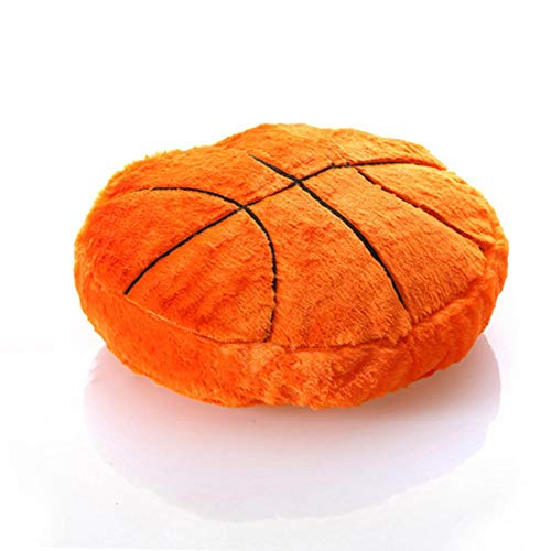 advancethy Plush Stuffed with PP Cotton Sports Theme Round Shape Throw Pillow Back Cushion Decorative Pillows for Home Office Sofa (Basketball)