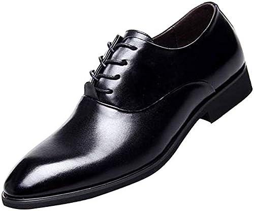 RSHENG Herren Herren Herren Derby Schuhe Business Casual Breath British Leder Schuhe Hochzeit Schuhe  neue sadie