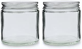 Pack 2x 120ml Transparente Cristal latas cosmético con plata aluminio deckeln. Adecuado para aromaterapia, cremas, Soft Gel, Seren, cera, salben etc.