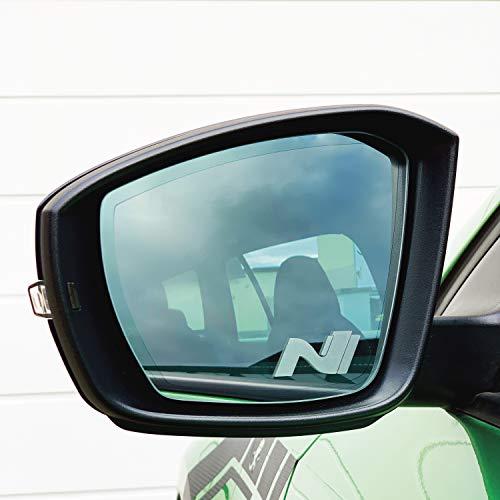 PrintAttack P047 V1 | 2er Set Spiegelaufkleber Milchglas Außenspiegel Etched Glass | Auto | Aufkleber | Sticker | Rückspiegel