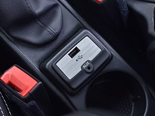 Cubierta De Acero para Alfa_Romeo MITO - 1 Pieza USB AUX Marco Inox Metal Cepillado Interior Decoración Personalizados Hechos a Medida Tuning