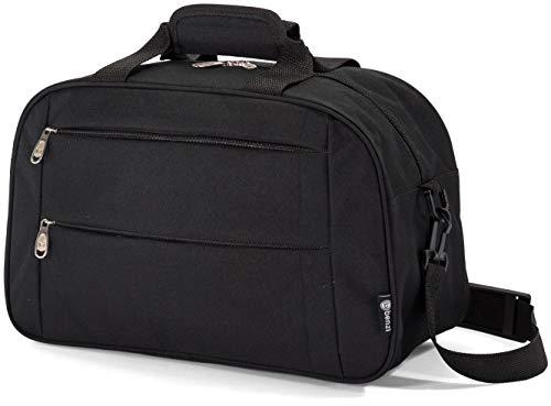 Benzi Bolsa de Viaje 40 x 25 x 20 cm Tamaño Equipaje de Mano Ryanair (5496 Negro)