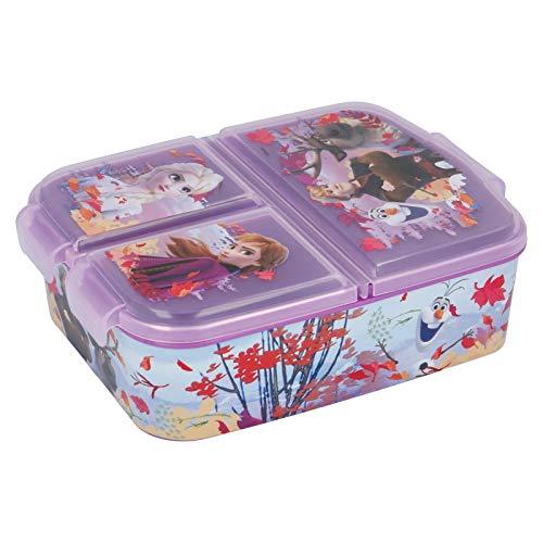 Stor Frozen 2 (Disney) | Sandwichera con 3 Compartimentos para niños - lonchera Infantil - Porta merienda - Fiambrera Decorada