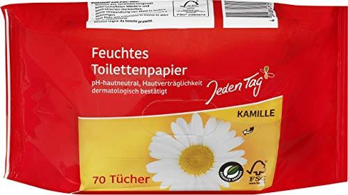 Jeden Tag Feuchtes Toilettenpapier Kamille, 70 Stück, 260 g