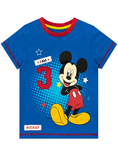 Disney Camiseta para Niños Mickey Mouse Azul 2-3 Años