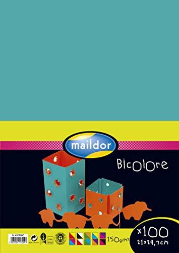Clairefontaine Maildor Bicolour Papier, Kaart, 50 x 65 cm, 150 g, Verschillende kleuren, 5 stuks