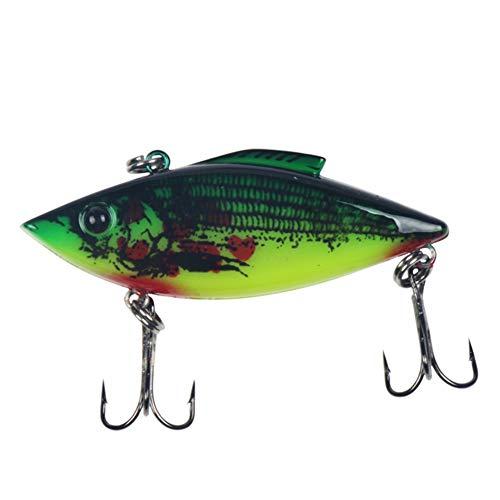 KP&CC señuelos de pesca, aparejos de pesca de lucio, 3D ojo de pez, forma de cuerpo realista, pesca eficiente, para Walleye amarillo perca cucarachas mosquitos (6 cm, 12 g, 1 unidad), C, L