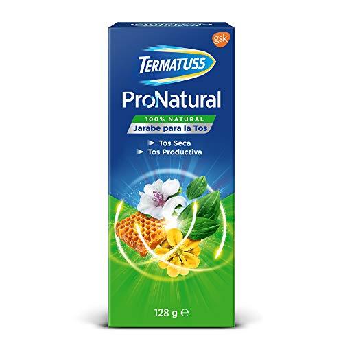 Termatuss Jarabe para la Tos con Miel y Complejo a Base de Plantas, Sin Gluten y 100% Natural, 128 g