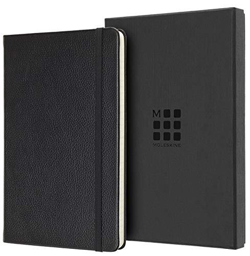 Moleskine Notizbuch - Ledereinband (Large/A5, Liniert, Hard Cover) schwarz