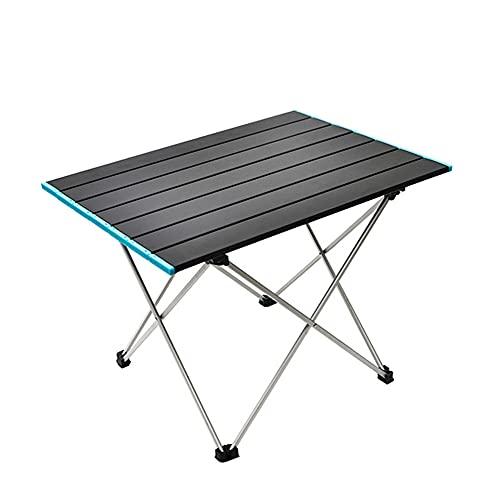 CHENHAO Mesa de camping plegable portátil ultraligera y plegable de aleación de aluminio para exteriores, para barbacoa, playa, fiesta, senderismo, pesca