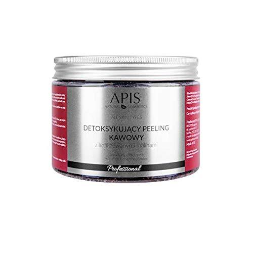 ApIS COFFEE HEAVEN - Exfoliante de café desintoxicante con frambuesas secadas por congelación | Limpieza y tratamiento aromático para el cuerpo | 300 g