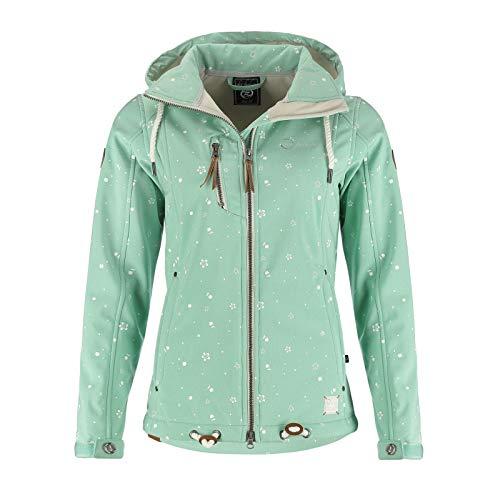 Dry Fashion Damen Softshell–Jacke Niebüll Farbe lindgrün, Größe 52