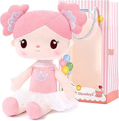 Gloveleyaregali Ragazza Bambola Morbida bambolas di pezza Bambolina Peluche - Rosa