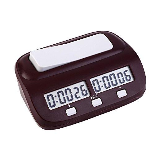 EgoEra® Profesional Digital Reloj de Ajedrez, Contador de Tiempo / Temporizador de Cuenta Atrás / Cuenta Regresiva, Reloj Electrónico de Competición de Juegos de Mesa