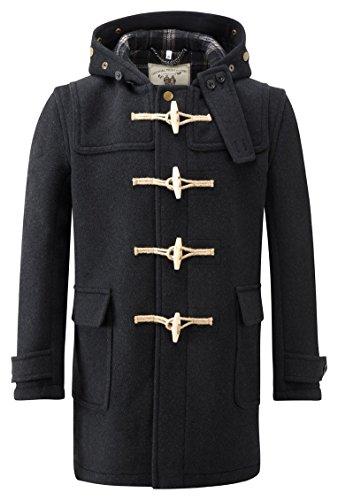 Montgomery Original Soho Elegance Duffle Coat Homme Charbon-L