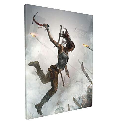 Shadow Of The Tomb Raider Canvas Wall Art Tasteless 3d Painting Large Decor For Living Room,Bedroom,Bathroom,Dorm Room 12x16 Inch