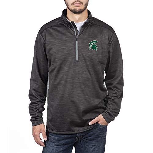 Top of the World Michigan State Spartans Men's Poly Cross Dye Next Calibur Half Zip, X-Large