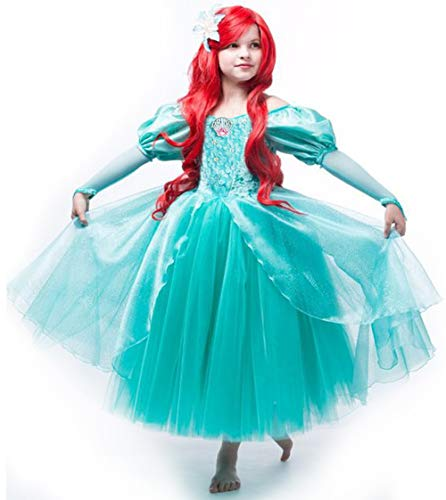 CQDY Prinzessin Meerjungfrau Kostüme Halloween Kostüm Prinzessin Ariel Cosplay Kostümfest Geburtstag Outfit