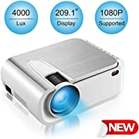 Xinda 789-7569006 HD 1080-Lumens LED Home Theater Projector with 210 Display 60,000 Hours Led