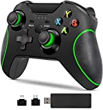 Pc Game Controller + Wireless Adapter for Xbox One/One S/One X/Elite, PS3, Android Phone, Windows 7/8/10 (Black)