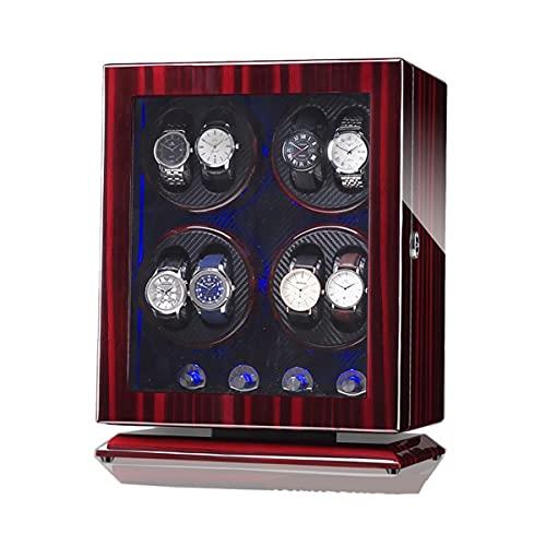 zyy Enrollador de reloj para 8 relojes automáticos, iluminación LED, acabado de piano con carcasa de madera, motor silencioso, almohada de reloj flexible (color : G)