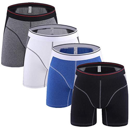 Heren Ondergoed 4 Stks/partij Mens Ondergoed Boxer Man Ice Zijde Onderbroek Trunk Broek Mannelijke Shorts voor Man Grappige Boxers Stijl A