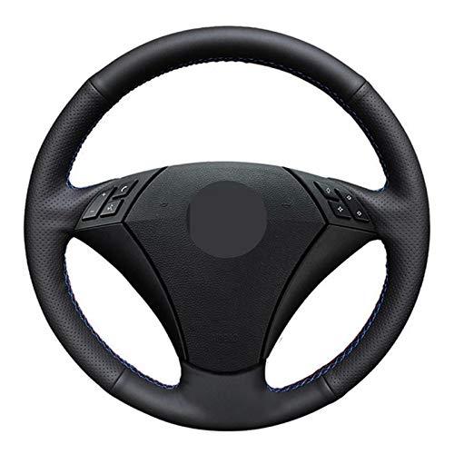 BTOEFE Cubierta de Volante de Cuero Cosida a Mano DIY, para BMW E60 E61 520i 520li 523 523li 525 525i 530 530i 535 545i