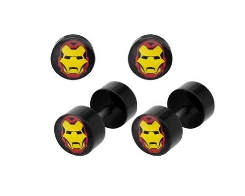 Marvel Comics Iron Man - Tapones de acero sintético (18 g)