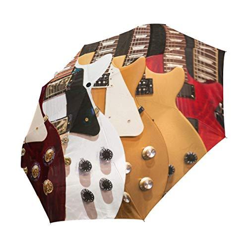 Ahomy - Paraguas de Viaje Compacto para Guitarras eléctricas, Resistente al Viento,...