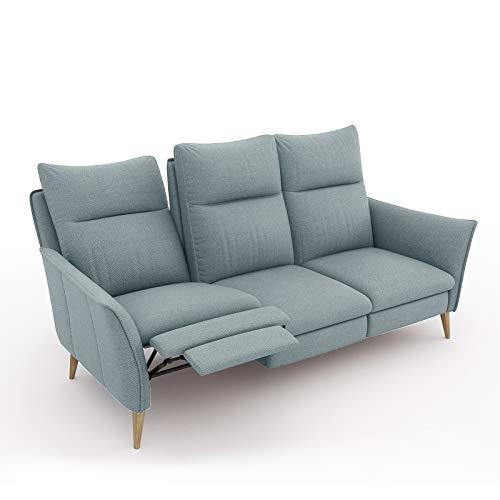 place to be. Sofa 3 Sitzer Recliner mit Zwei verstellbaren Liegefunktionen/Couch zum Fernsehen und Relaxen Eiche Salbei