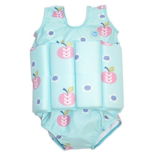 Splash About Mädchen Kinder Float-Anzug, blau (Apfel Daisy), L (Groß - 4-6 Jahre)