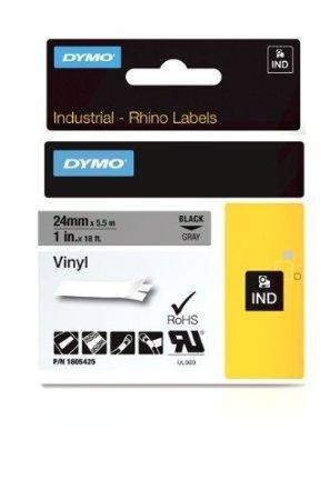 Best Buy! DYMO Rhino 1IN Gray VINYL-24MM