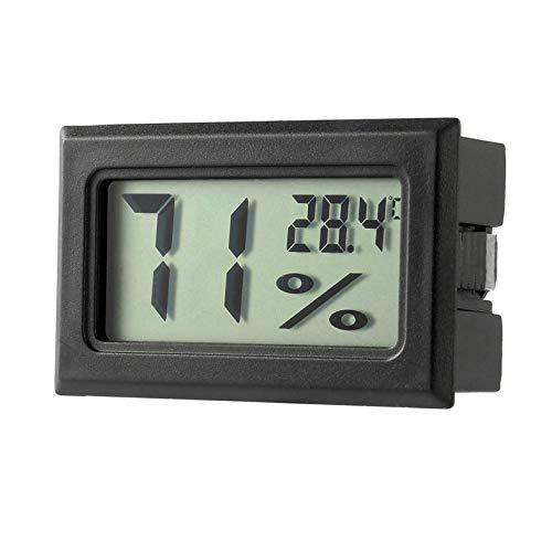 CamKpell Professionelles Mini-Digital-LCD-Thermometer Hygrometer Luftfeuchtigkeitstemperaturmesser Indoor-Digital-LCD-Anzeigesensor - Schwarz