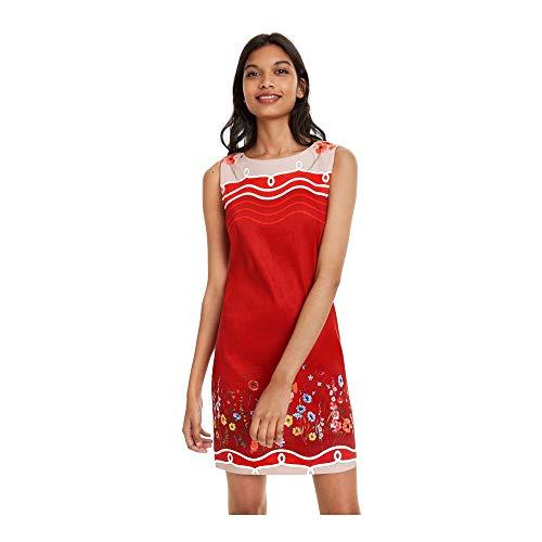 Desigual Damen Dress Sleeveless Patrice Woman RED Kleid, Rot (Menorca 3073), 40