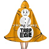 YRUI Joven Jee-Zy Trap Or Die - Capa con capucha para niños, disfraz de Halloween, color negro
