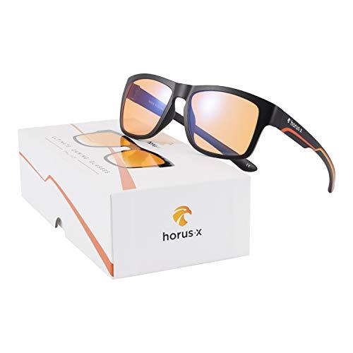 Horus X – Blaulichtfilter Brille – Computer Gaming Brille S – Kinder, Jugendliche, Herren – Damen | Blendschutz Anti-Müdigkeit & Schutz vor Augenbelastung durch Bildschirme (Videospiele, Konsole, PC)