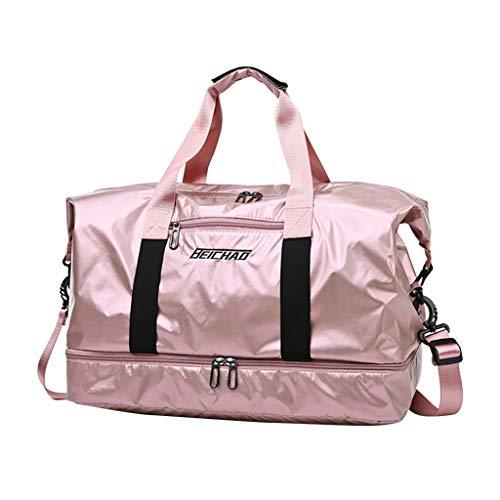 Sporttasche, Seesack/Reisetasche, Kinder Badetasche Gym Tasche Herren schwimmtasche Schultertaschen Reisetasche Jungen Urlaubstasche klein Fitnesstasche groß (Rosa)