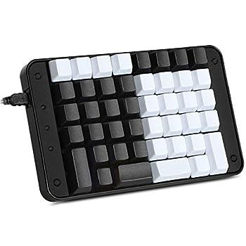 Koolertron Single-Handed Programmable Mechanical Keyboard with OEM Gateron Red Switch,All 44 Programmable Keys Tools Keypad,8 Macro Keys,PBT Keycaps.[SMKD72-C]