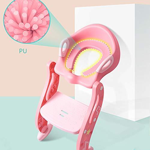 AIBAB Laveurs De Siège De Toilette pour Enfants Étape Palier De Charge Forte Sécurité Coussin Souple Hygiène Auxiliaire Réglage À Deux Vitesses
