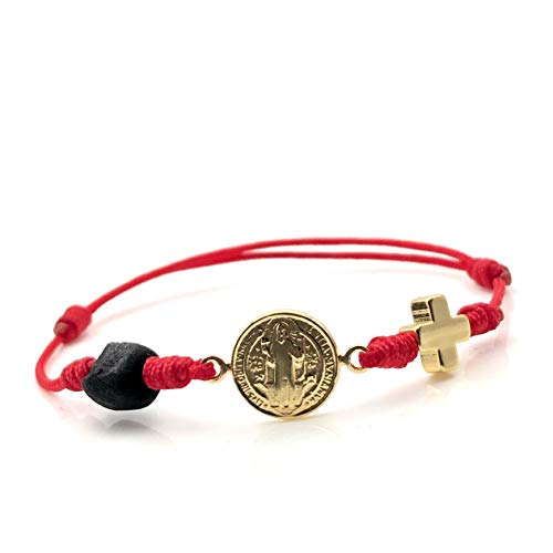 St Benedict Red String triple Protection Bracelet for de New Family...