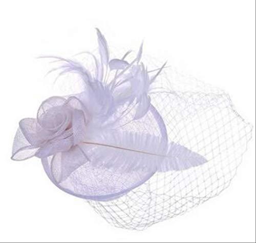 SKJSB Federhut Schöne Hochzeits-Hut-Schleier-Leinen-Tulle-Erwachsene Braut-Hüte Mit FederSchreiben