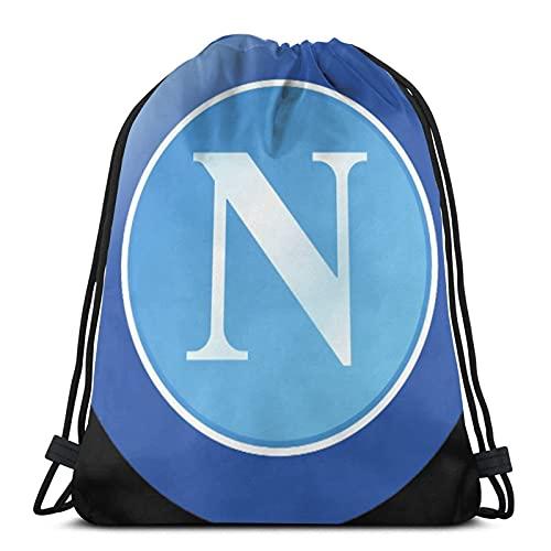 Borse con coulisse Stemma Napoli Calcio 2017 Unisex coulisse zaino borsa sportiva corda grande borsa coulisse Tote bag palestra zaino in massa