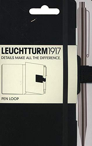 LEUCHTTURM1917 304637 Pen Loop (Stiftschlaufe), selbstklebend, Schwarz