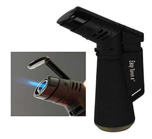 Lifestyle-Ambiente Easy Torch Feuerzeug Freestyle Jetflamme Rubber Black inkl Tastingbogen