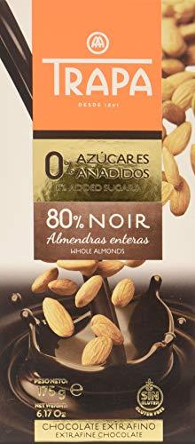 Trapa Chocolate Negro 80% Almendra, 175 g