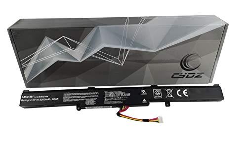 CYDZ® 15V 3200mah 48Wh Bateria de laptop A41N1501 L41LK2H L41LK9H A4IN1501 para ASUS GL752JW GL752VL GL752VW GL752VL-1A GL752VL-2B GL752VL-GC057T GL752VW-1A GL752VW-2B N552 N552V N552VW N552VX