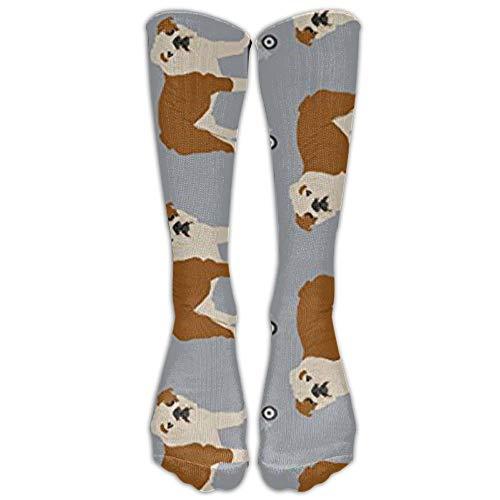 Holuday English Bulldog Skateboard Boys Athletic Tube Stockings Women's Men's Classics Stockings Crew Socks Sport Long Sock One Size